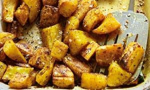 Hugh Fearnley-Whittingstall's curry-spiced parsnips and potatoes