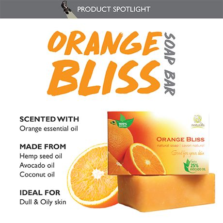 Orange Bliss Soap bar - Refreshing, bright, and foamy! Contains no SLS or chemicals, only natural goodness.