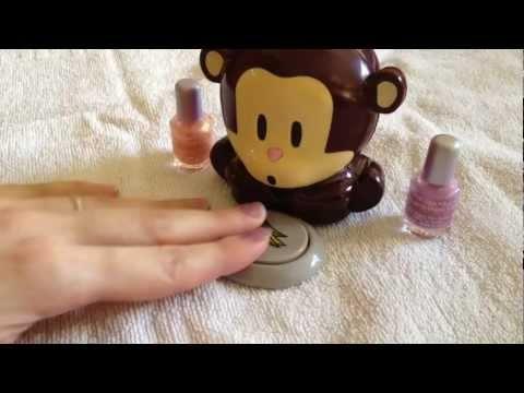 Sèche ventilateur vernis à ongles en forme de singe