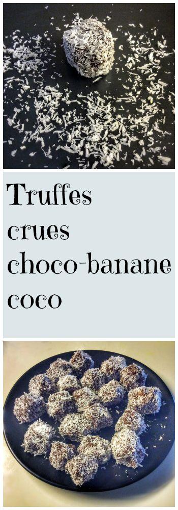 À l'approche de Noël, une petite recette de truffes crues choco-bananes ! Recette sur : http://www.veganfreestyle.com/truffes-crues-chocolat-banane-vegan/