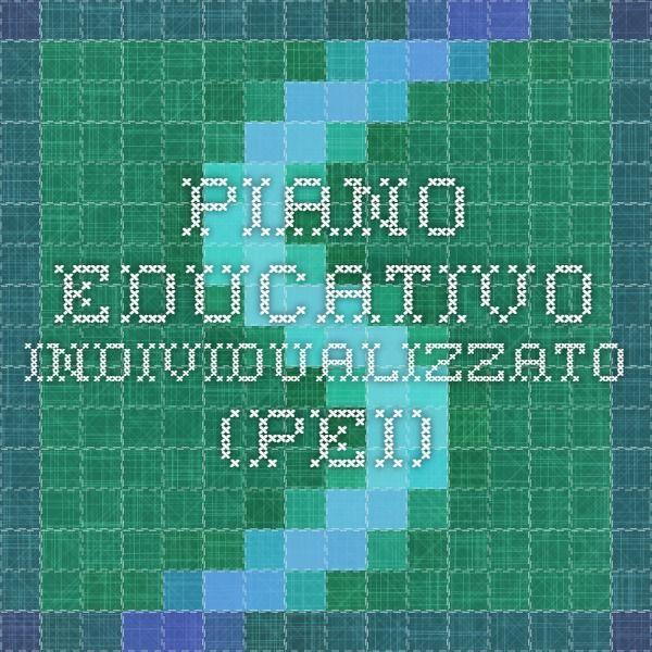 Piano Educativo Individualizzato (PEI)