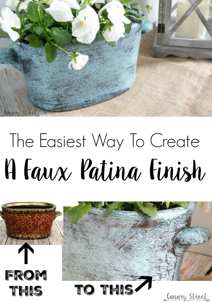 The easiest way to create a faux patina finish. Modern Masters metal effect patina paint makes it easy to create a faux patina finish.