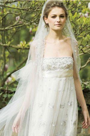 とにかく可愛い♡白のエンパイア ウェディングドレス・花嫁衣装のまとめ一覧♡