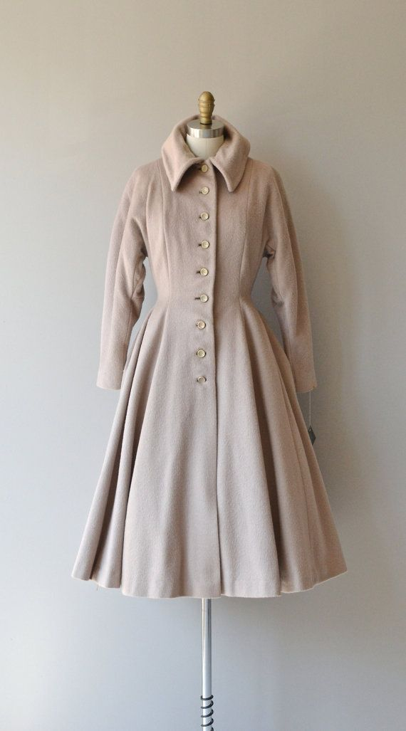 Mineral Shale coat 1940s wool princess coat by DearGolden