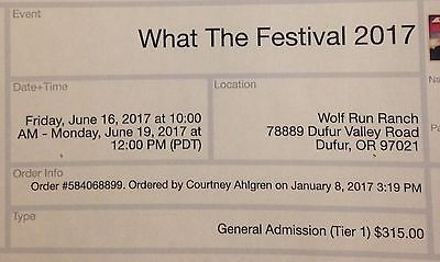 #Tickets What the Festival Ticket #Tickets