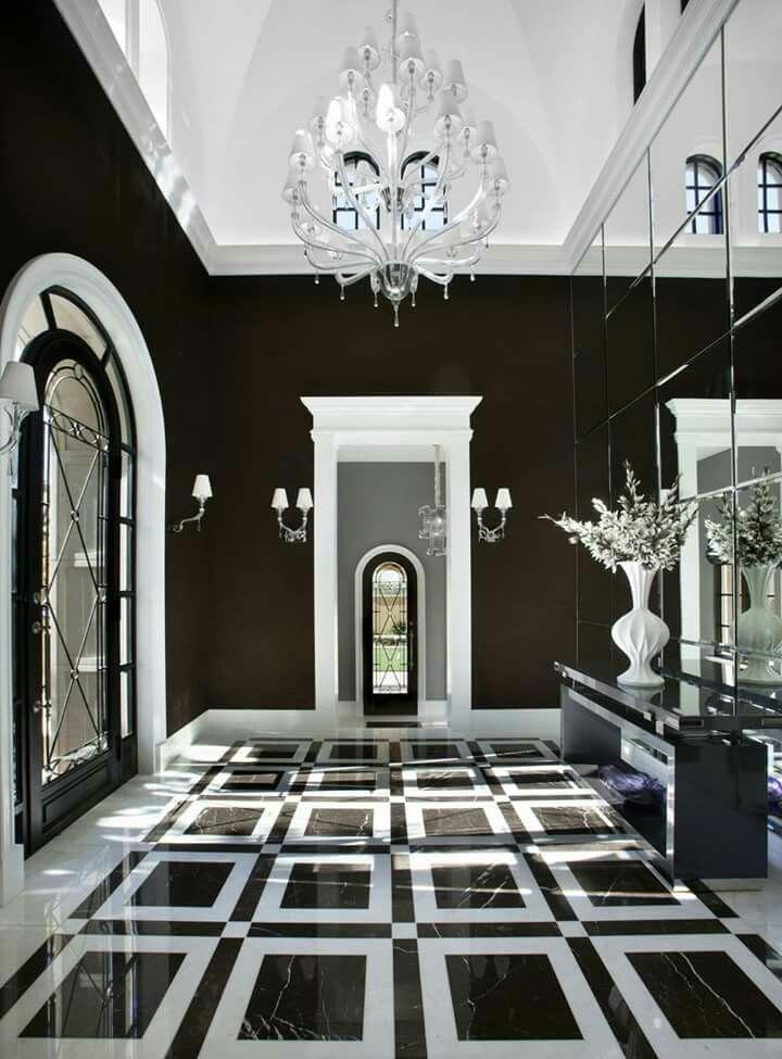 Salcito custom homes...black and white interior.