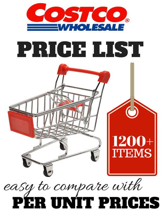 Costco Price List - Updated with 1200+ per unit prices (updated February 2017)