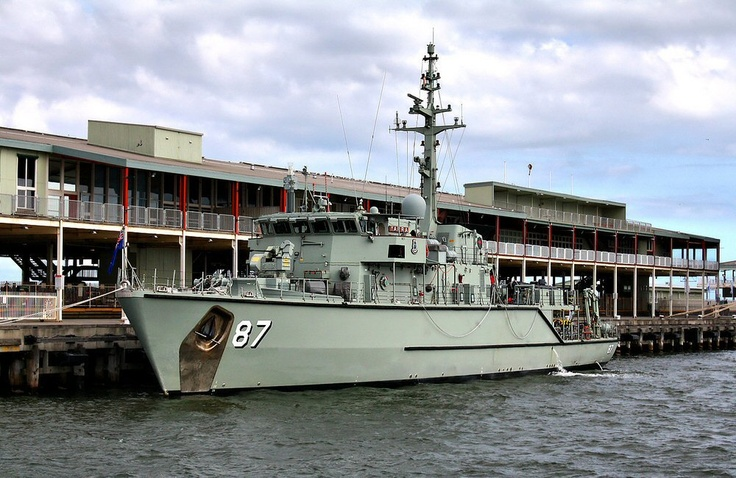 HMAS Yarra (M 87) is the sixth Huon-class minehunter to have been built for the Royal Australian Navy and the fourth warship to be named after the Yarra River in Victoria. She was built by Australian Defence Industries in Newcastle, New South Wales, launched on 19 January 2002, and commissioned into the RAN on 01 March 2003. She is based at HMAS Waterhen Naval Base in Sydney, along with the majority of the RAN's mine warfare assets.