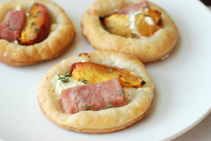 nectarine, goat cheese and ham danish | Breakfast | Pinterest
