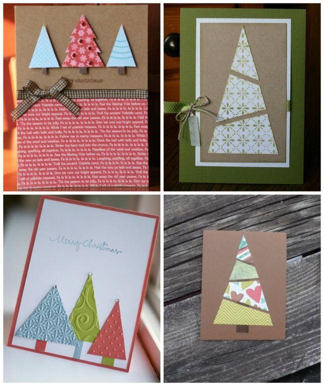 40Tarjetas navideñas que puedes elaborar enmedia hora