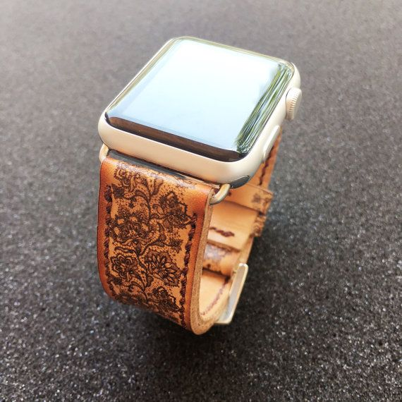 Apple Watch Band Hand-Stitched Handmade Series 1 by RuslieStraps