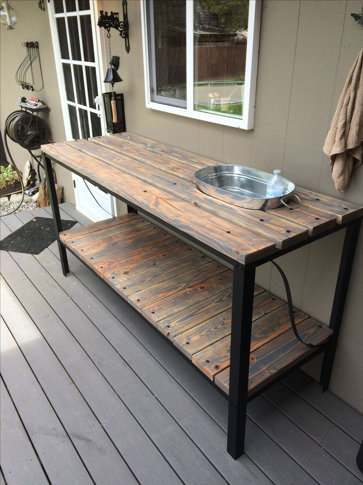Iron And Wood Patio Furniture best 25+ industrial outdoor furniture ideas on pinterest