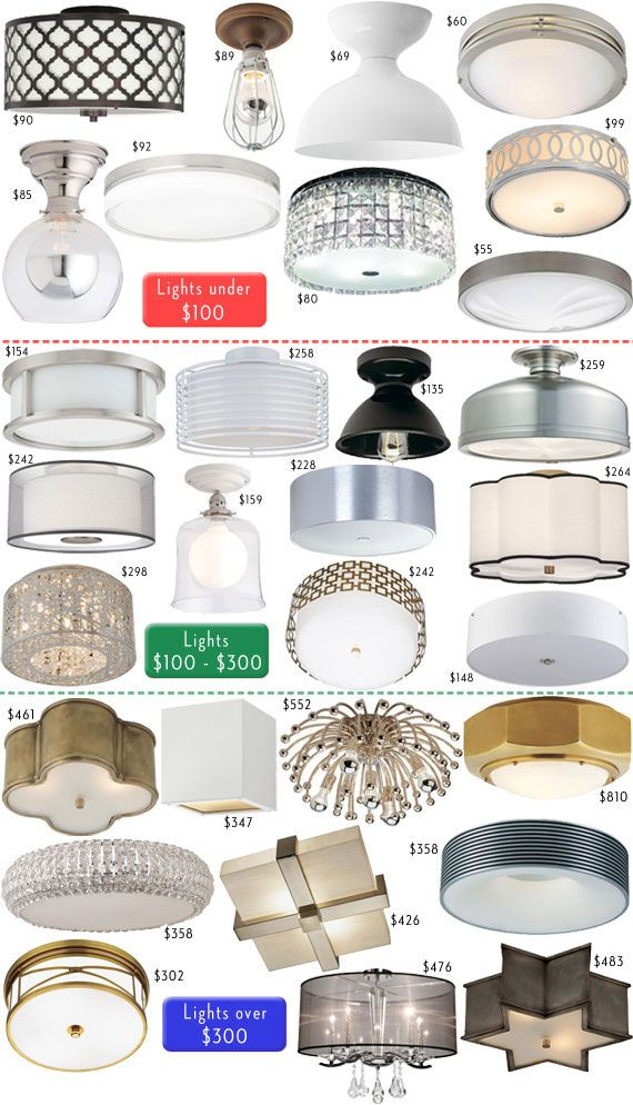 Flush Mount Ceiling Lights To Get Rid Of Those Blah Plain Builder Grade They Put Into Every Room