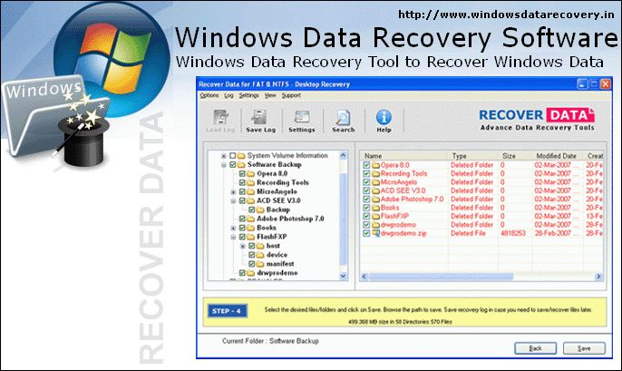 the software runs a quick scan of the storage media, and offers an overview of the recoverable Windows files following a hierarchical pattern. After this, a user is just needed to select the desired files and folders as well as is required to provide the destination path to restore.