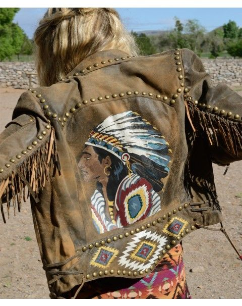 Chief Eagle Head Biker Jacket. Check out Tin Rose Boutique we sale this beautiful jacket and many more!