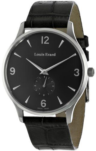 Louis Erard Men's 47217AA03.BEP02 1931 Stainless Steel and Leather Mechanical Hand-Wind Watch An exceptional design--paired with fine Swiss craftsmanship--create this flawless Louis Erard timepiece, which boasts a luxurious leather strap and silver sunray dial.. With its mechanical hand-wind movement, this analog-display watch never needs a battery.. Protective anti-reflective sapphire crystal dia... #LouisErard #Watch