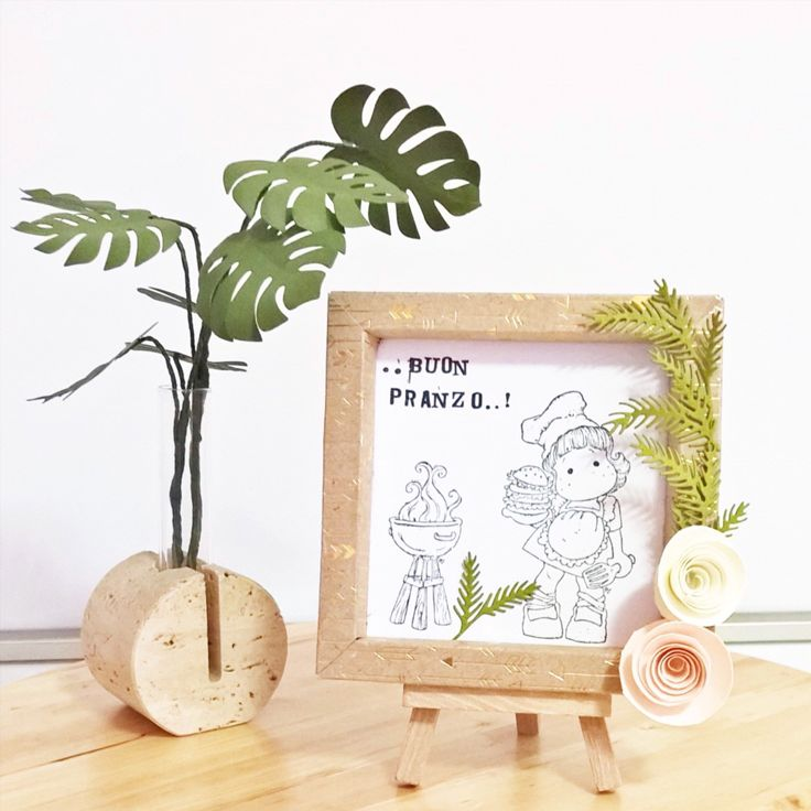 Paper Shadow box...paper plant