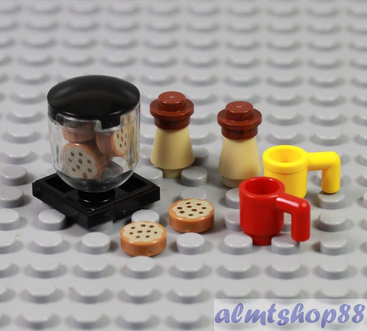 LEGO - Cookie Jar Iced Coffee & Mugs Lot Minifigure Dessert Food Kitchen Friends #LEGO