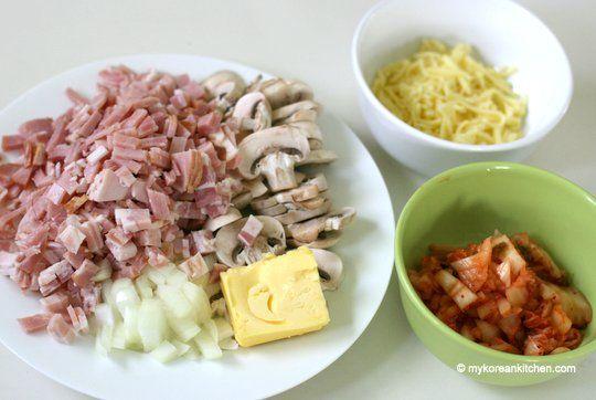 Kimchi Bacon Spaghetti Ingredients