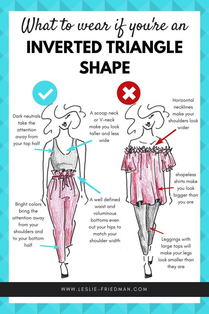 How to dress an INVERTED TRIANGLE Shape • Leslie Friedman  Pear
