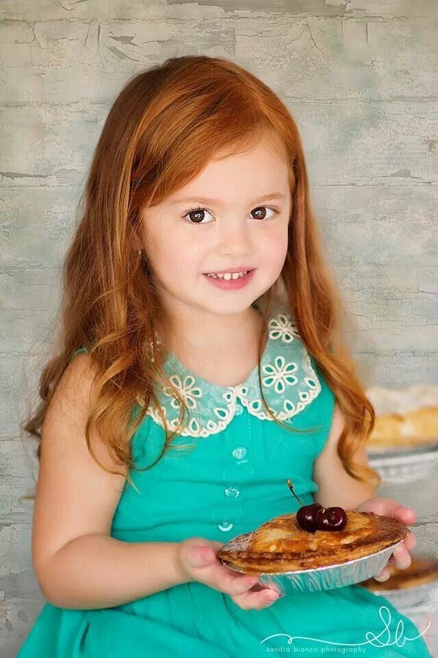 Red headed beauty with a pie :)