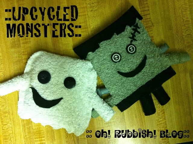 Oh! Rubbish!  Upcycled Monsters  Halloween Characters Project