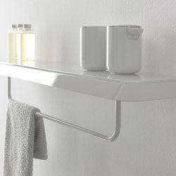 Porte-serviettes-Tablettes-Supports tablettes-Accessoires de bain-Fluent etagère et porte-serviette-Inbani Design