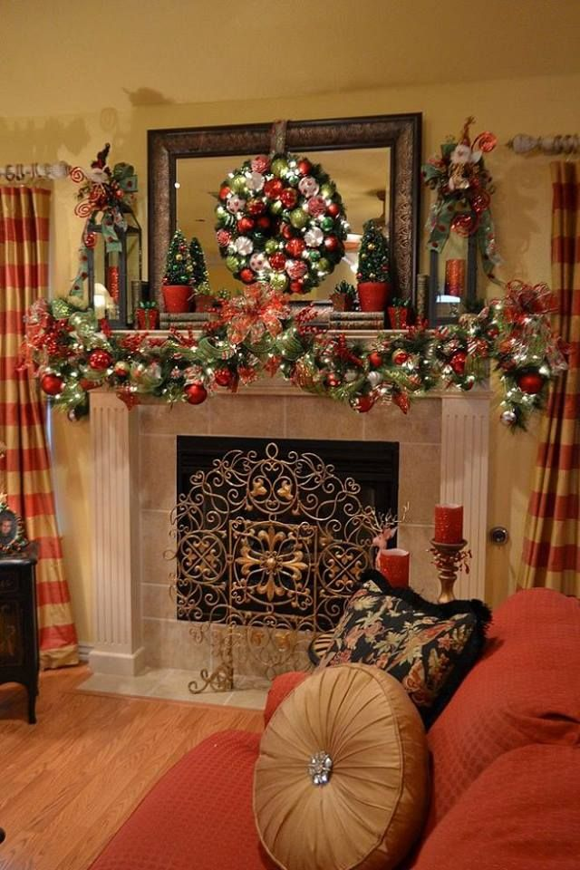 25 unique christmas mantle decorations ideas on pinterest for Unique mantel decor