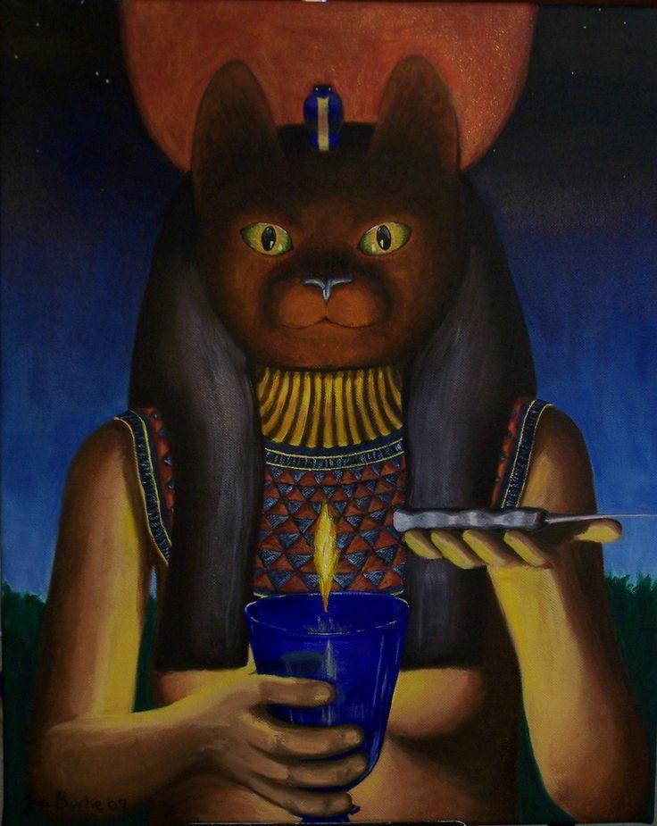 The Goddess Bast Oil on canvas