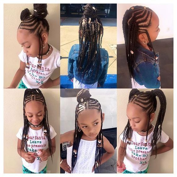 So in love with this versatile protective style inspired by @kersti.pitre and done by demi hair stylist @braids_bylauren__ you can do so many different hairstyles for different looks #DifferentHairStyles