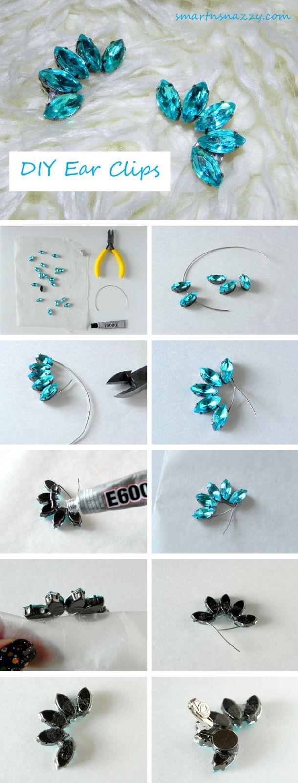 DIY Ear Clips Ear Cuffs Tutorial