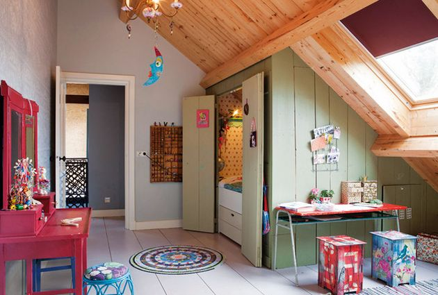 AMAZING KIDS' ROOM IN A DUTCH FARMHOUSE WITH ADDED QUIRKINESS