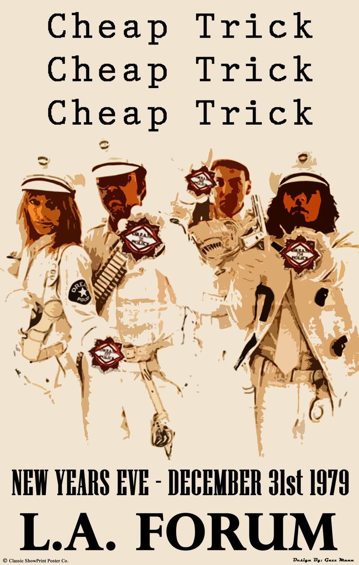Cheap Trick Concert Poster https://www.facebook.com/FromTheWaybackMachine