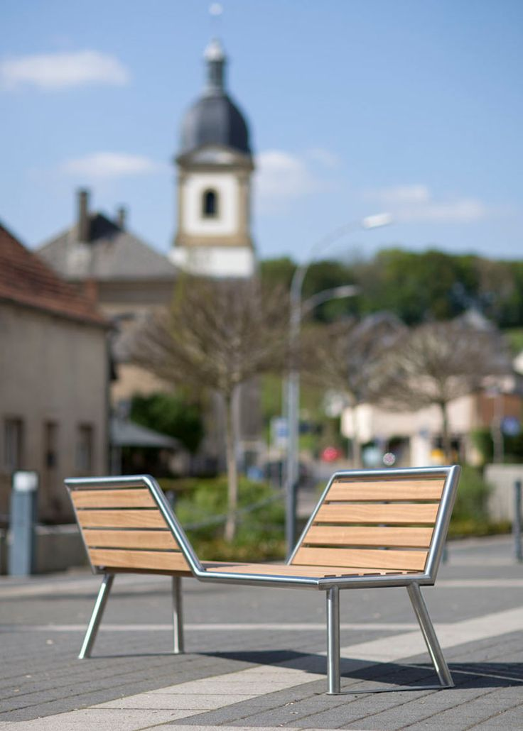 Job, the vis-a-vis bench is a bench that's not like most benches on the  market. Produced by ABES Public Design, the outdoor bench features two  diagonally ...