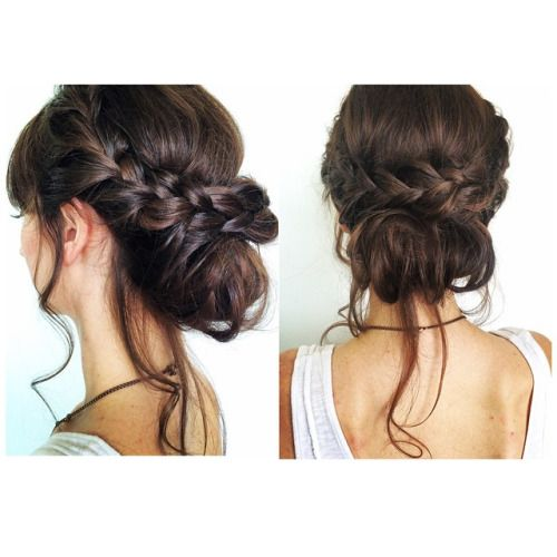 This wedding updo is THE bridal hairstyle. Its an updo with some accents of a relaxed boho style.