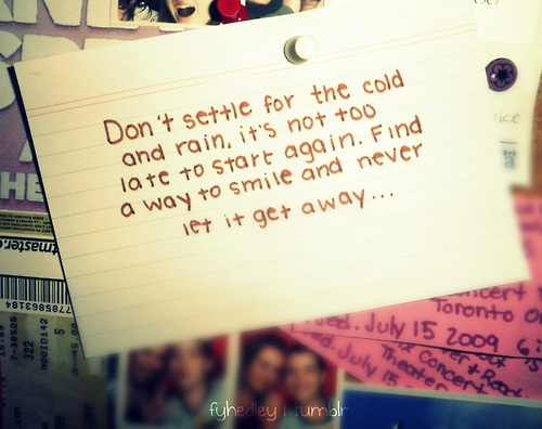 This would make a really cute tattoo Hedley - Never too late lyrics