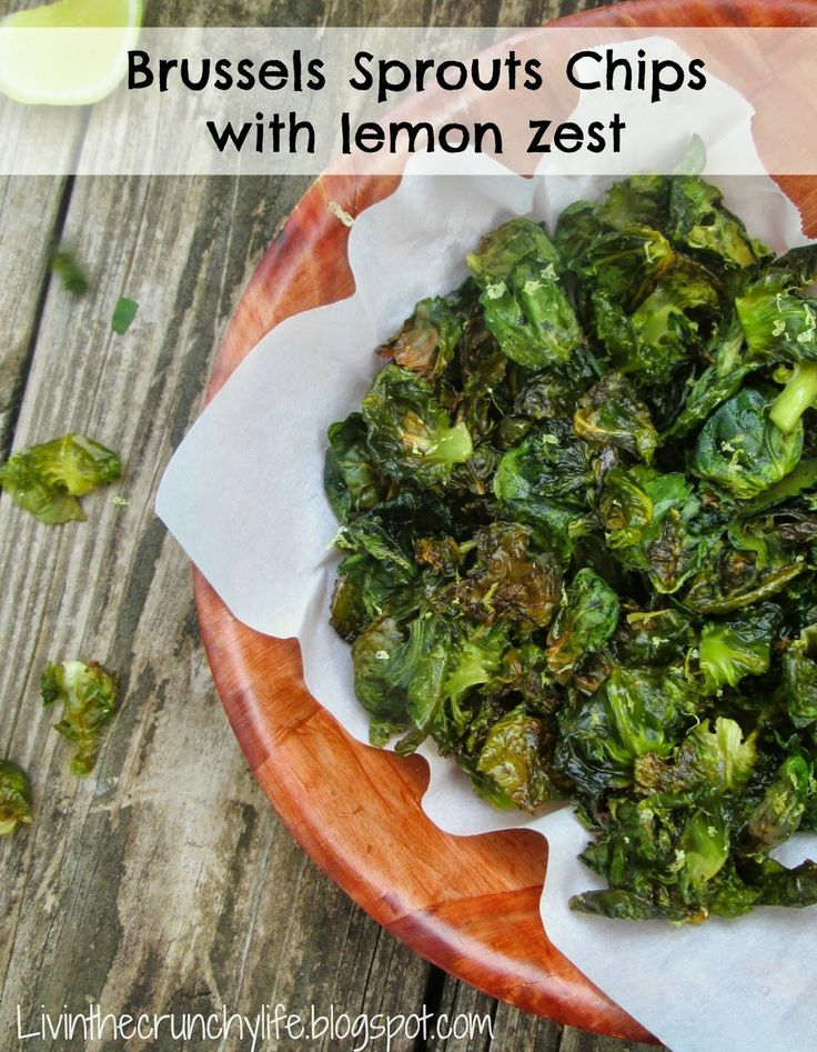 Brussels Sprouts Chips with Lemon Zest - AIP auto immune friendly
