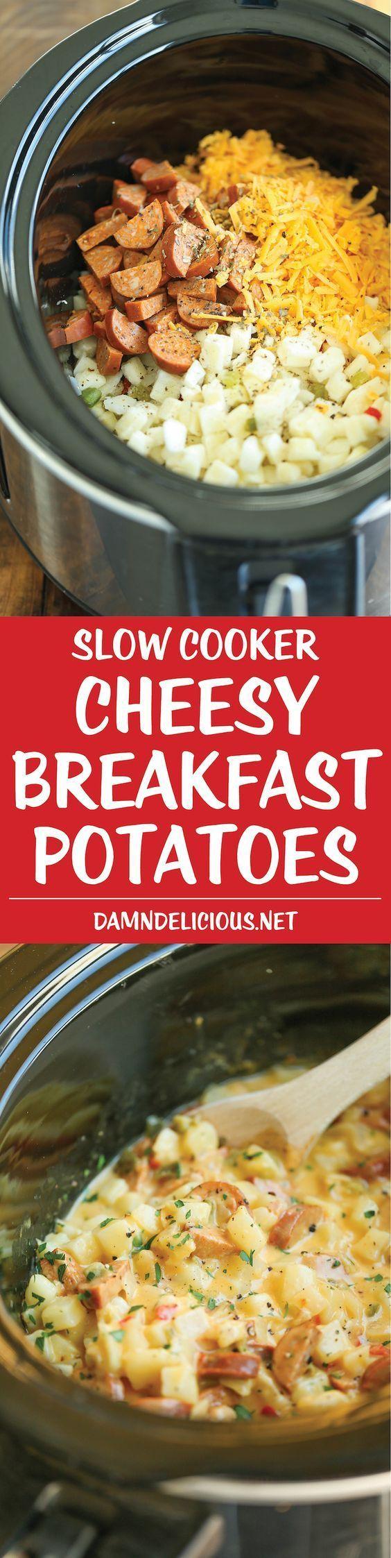 Papas de desayuno con queso y olla de cocción lenta   – Crock Pot Recipes