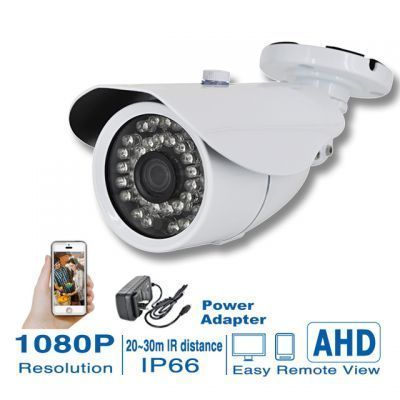 2.0MP 1080P AHD Camera CCTV 3.6mm Lens infrared IR-LED for outdoor waterproof Wholesale:36.00USD/PC #cheaphomesecuritysystem
