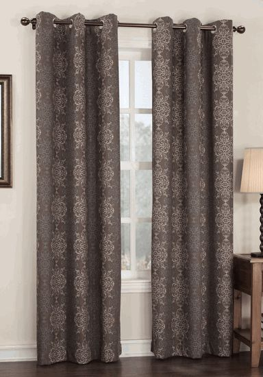 Henna Is A Pattern Thermal Room Darkening Drapery With Easy To Hang Stainless Steel Grommets