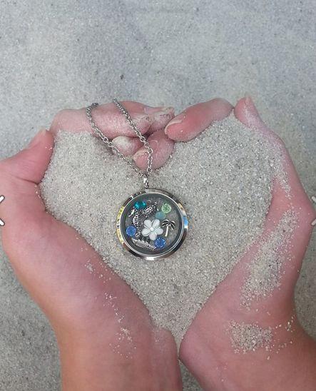 Fun Summer charm necklace! South Hill Designs ,Custom Lockets. www.southhilldesigns.com/amandapearlman