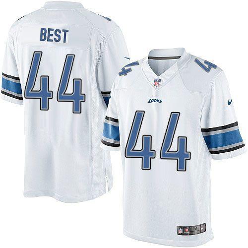 Men Nike Detroit Lions #44 Jahvid Best Limited White NFL Jersey Sale