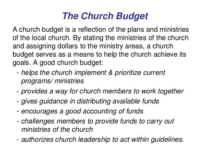churches budget process - Google Search budget reform - church budget template example