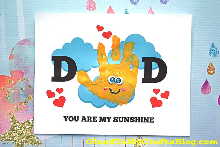 Handprint dad you are my sunshine free printable in 2020