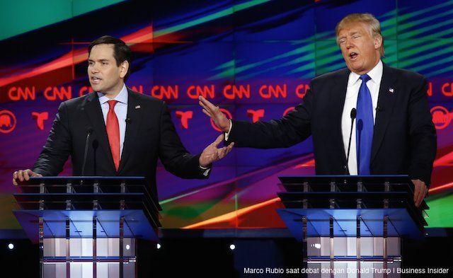 MIAMI, AKARPADINEWS.COM | DONALD Trump boleh saja membusungkan dada lantaran saat ini memimpin perolehan dukungan suara di beberapa negara bagian. Namun, bukan berarti bakal calon presiden Amerika Serikat (AS)