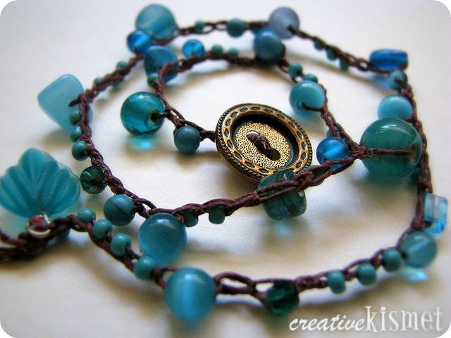 beaded crocheted bracelets by Regina (creative kismet), via Flickr  more pics on her blog with a video