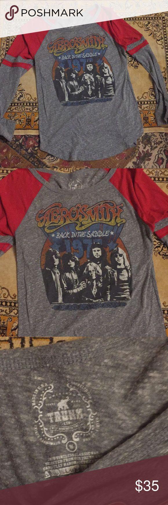Aerosmith shirt Long sleeve Aerosmith band tee brand is trunk Tops Tees - Long Sleeve