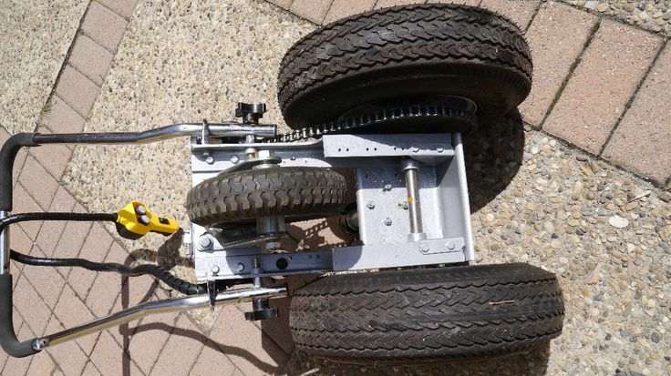 This trailer dolly is built using parts available at Princess Auto (in Canada) and probably Harbour Freight in the US. Parts list: 2000 lb ATV winch 16 tooth #40 drive gear 54 tooth #40 driven gear…