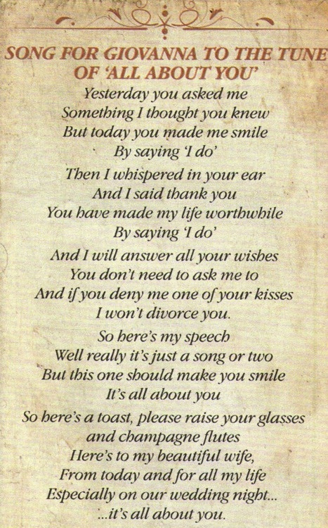 Tom Fletcher's song to his wife