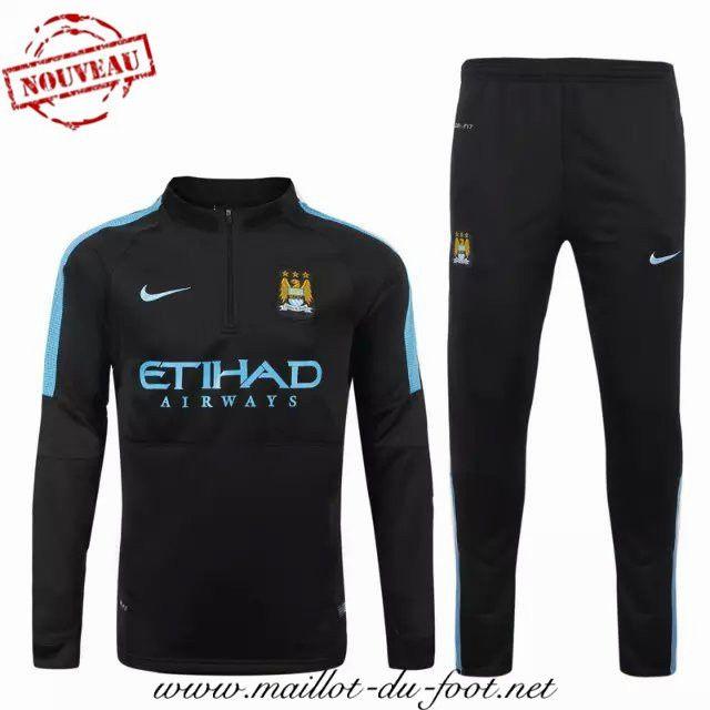 site du Nouveau Survetement de foot Manchester City Noir 2015 2016 shop